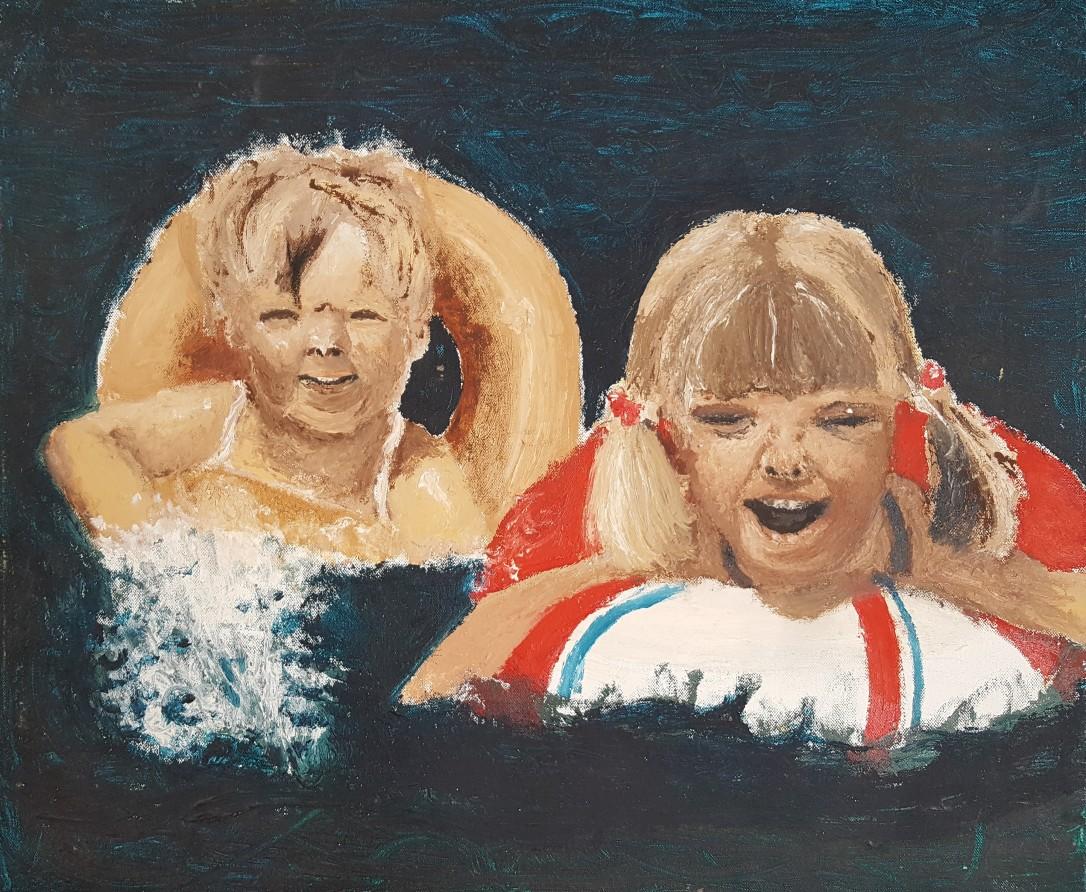 Zwemmende kinderen 1989